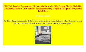 vimoda teppich wohnzimmer modern klassisch sehr dicht gewebt
