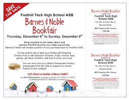 Foothill Technology High School  Barnes & Noble Bookfair