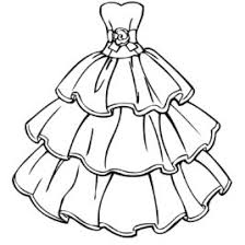 Beautiful Dress Coloring Page Printable Pages Adult
