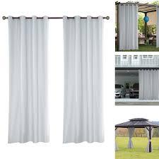 hlhbdsm outdoor vorhänge breit mit ösen 137 244 cm weiss winddicht wasserdicht vorhänge outdoor gardinen gardinen vorhänge hm 03614