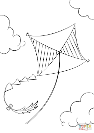 Click The Kite Flying Coloring Pages To View Printable