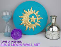 Tumblr Inspired Sun And Moon Wall Art