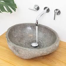 naturstein waschbecken 50 cm rund