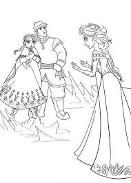 Anna And Kristoff In Arguing With Elsa Coloring Page
