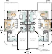 Images Duplex Housing Plans by Multi Family Plan W3001 Detail From Drummondhouseplans