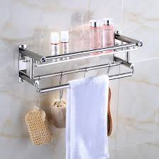 moderne 304 edelstahl poliert badezimmer regal dusche shoo kosmetische regale bad zubehör mit kleiderhaken