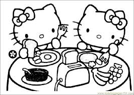 Awesome Coloring Hello Kitty Printable Pages On Free