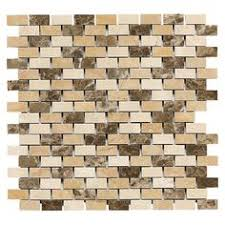 Bondera Tile Mat Canada by Faber 12 In X 14 In Sandalwood Freeway Blends Mosaic Natural Stone