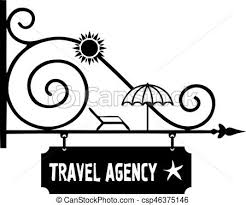 Signpost Guide To Travel Agency Vector