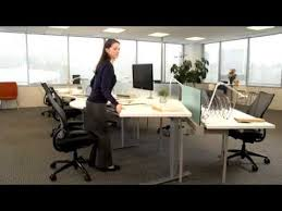 how to use humanscale s float height adjustable table youtube