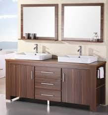 72 Inch Wide Double Sink Bathroom Vanity by Design Element Washington Double Drop In Vessel Sink Vanity Set