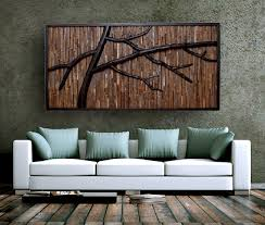 Reclaimed Barnwood Branches Wall Art Wide Woodworking