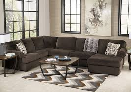 furniture world nw jessa place chocolate right facing chaise sectional