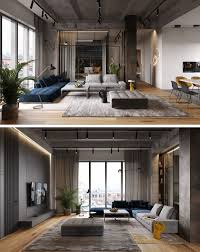 100 Apartment Interior Design Photos A Glass Wall Separates The Living Room From The Home Office