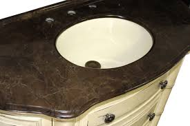 Bathroom Vanities 42 Inches Wide by Clover Single 42 Inch Antique Parchment Traditional Bathroom Vanity