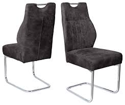 2 freischwinger schwinger r5074 03 schwingstuhl küchenstuhl stuhl anthrazit vintage