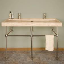 Trough Sink With Two Faucets by Romantic Bathroom Vanity Sets With Trough Sink And Two Faucets