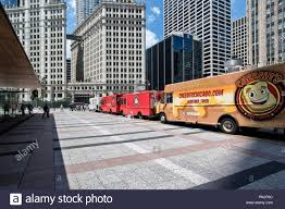 Food Trucks On Michigan Avenue In Front Of The Wrigley Building ...