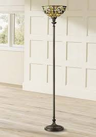 Tiffany Style Glass Torchiere Floor Lamp by Tiffany Torchiere Floor Lamps Lamps Plus