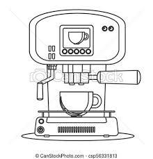 Contour Icon Coffee Machine With A Mug