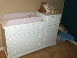 decorative white ba changing table in baby dresser changing table