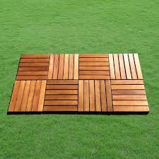 acacia hardwood deck tiles pack of 10 free shipping today