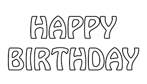 Cozy Design Happy Birthday Outline Text Free Stock Public Domain Stickers Font Card Cake