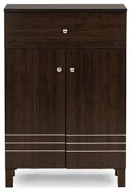 Simms Shoe Cabinet In Cappuccino by Felda Dark Brown Shoe Cabinet With 2 Doors And Drawer