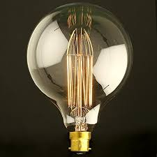 globe 80 95 125 vintage light bulb filament edison style bayonet