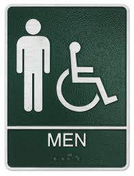 Printable Handicap Bathroom Signs by Ada Handicap Men Restroom Plaque Sign Size 7 U0027 U0027 X 8 5 U0027 U0027 X 0 25