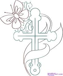 Coloring Pictures Cross Christ Religious Page