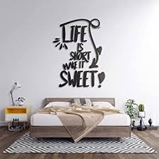 3d wandtattoo schlafzimmer aus holz mit dem spruch motiv is make it sweet in verschieden farben große m 70cm x 50cm sprüche für
