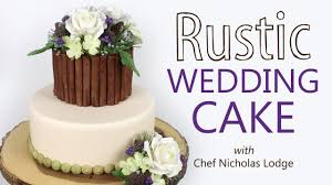 Make A Rustic Wedding Cake