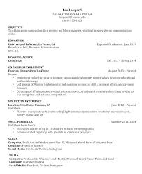 Resume For Students Examples College Student Nursing Objective