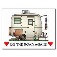 Cute RV Vintage Glass Egg Camper Travel Trailer Post Card