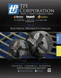 tpi corporation electric heat industrial fans lights
