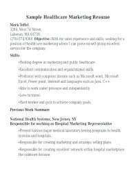Resume Sample Marketing For Manager Healthcare From Blue Medical