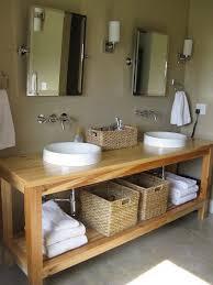 farmhouse double sink bathroom vanities sink console wax pine