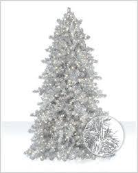 Silver Artificial Christmas Tree Narrow Tinsel Market Silvertip