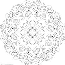 Intricate Flower Coloring Pages Mandala Colouring Cute Difficult For Adults Printable Pencils Art