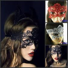 Funny Halloween Half Masks by Lace Diamond Women Masquerade Masks Costume Party Hood Halloween