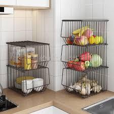 home küche bewegliche lagerung rack mit räder multi schicht gemüse und obst metall korb regal für topf schüssel schutt weiß braun