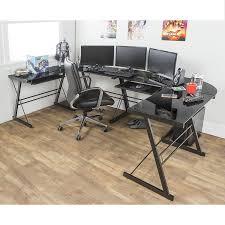 L Shaped Computer Desk Amazon by Amazon Com Walker Edison Soreno 3 Piece Corner Desk Black With
