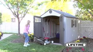 Lifetime 10x8 Plastic Shed by 60141 8x10 Shed Vertical Siding1 Youtube