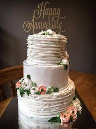 Anniversary Cake Topper Happy Gold
