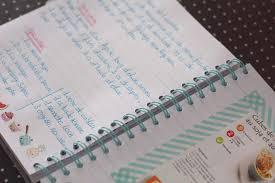 cahier de cuisine à remplir my recipe book mon carnet de recettes kawai merci pour le chocolat