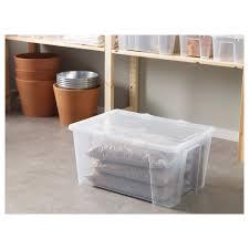 samla box mit deckel transparent 57x39x28 cm 45 l