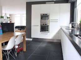 Kitchen With Modern Appliances And Slate Flooring