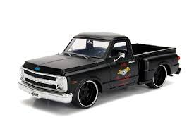 100 Stepside Trucks Amazoncom Jada 1969 Chevrolet C10 Pickup Truck Matt Black