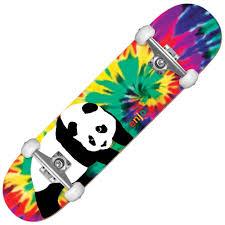Enjoi Skateboards Tie Dye V3 Complete Skateboard 7.75